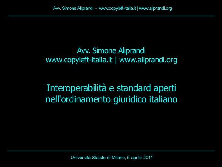 Avv. Simone Aliprandi - www.copyleft-italia.it | www.aliprandi.org        Avv. Simone Aliprandiwww.copyleft-italia.it | ww...