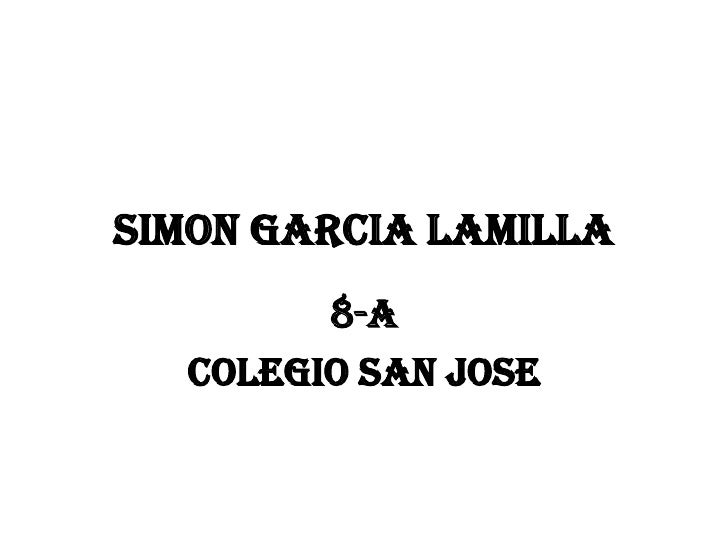 Simon Garcia Lamilla        8-A  Colegio san jose