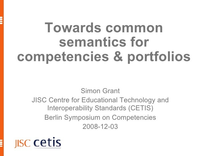 Towards common semantics for competencies & portfolios
