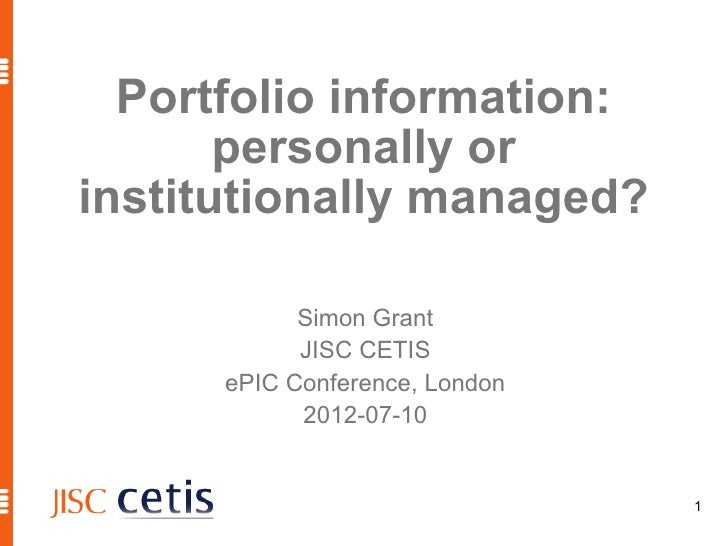 Portfolio information: personally or institutionally managed?