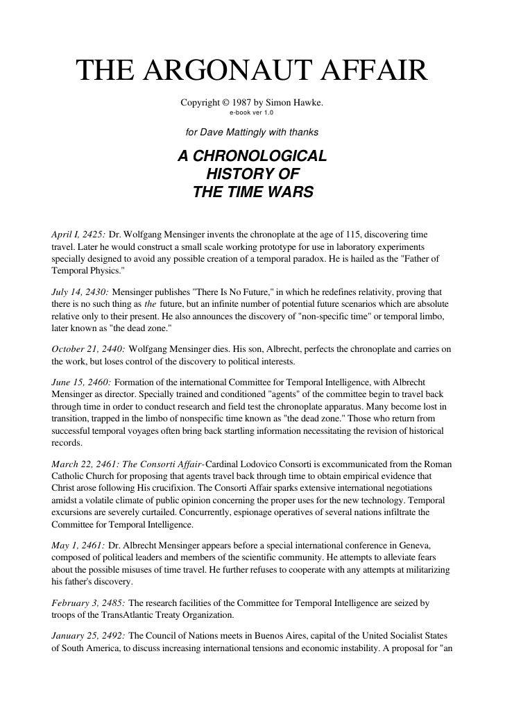 Simon hawke   timewars 7 - the argonaut affair