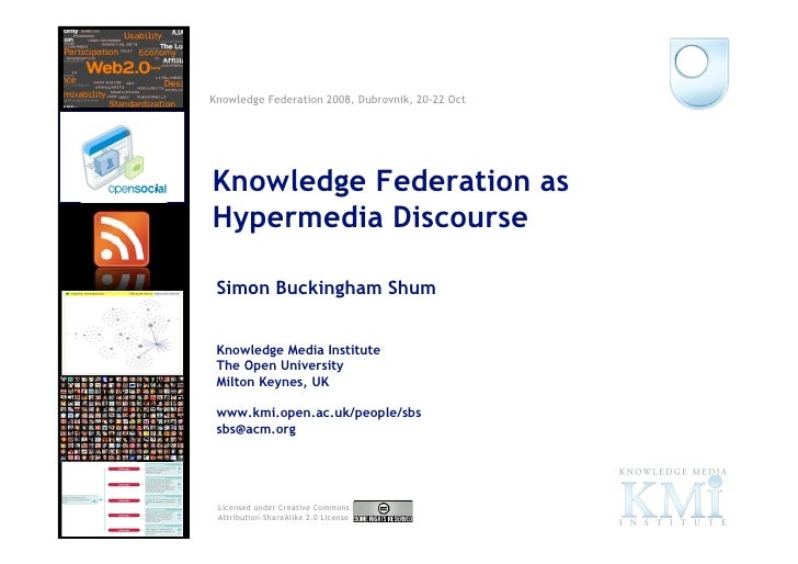 Knowledge Federation 2008, Dubrovnik, 20-22 Oct                               Knowledge Federation as                     ...