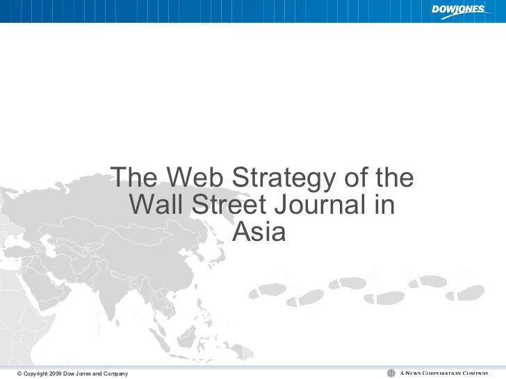 The Web Strategy of the Wall Street Journal in Asia