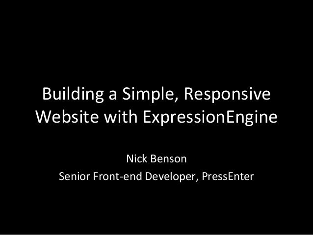 Building a Simple, Responsive Website with ExpressionEngine