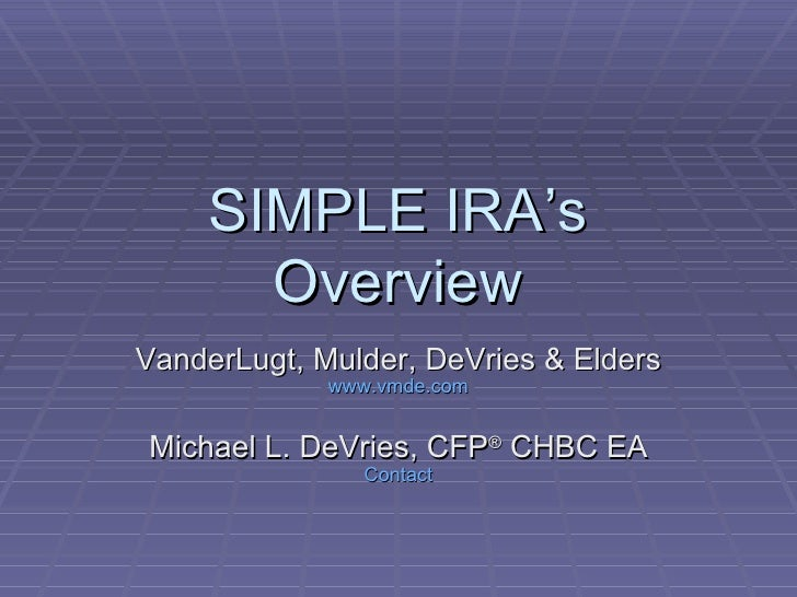 Simple IRA Overview