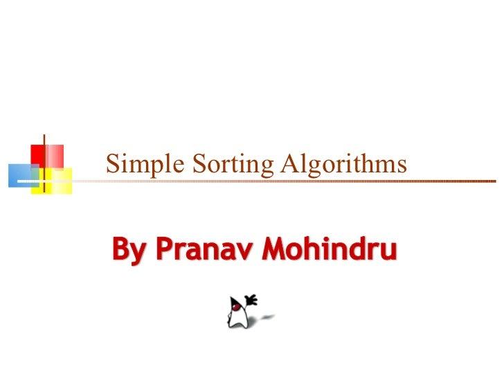 Simple Sorting Algorithms