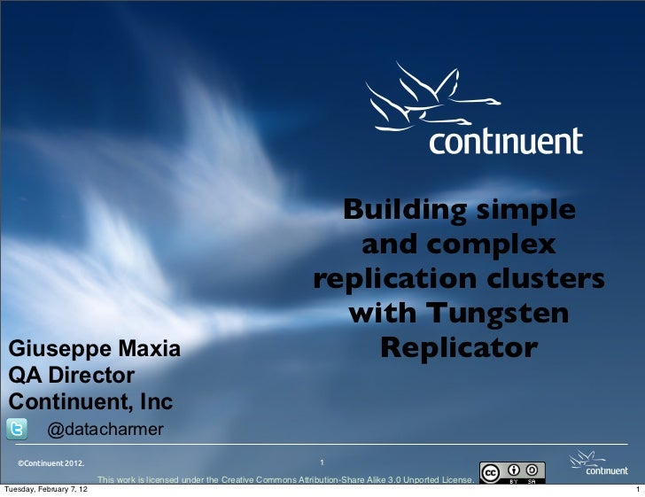 Building simple and complex clusters with tungsten replicator