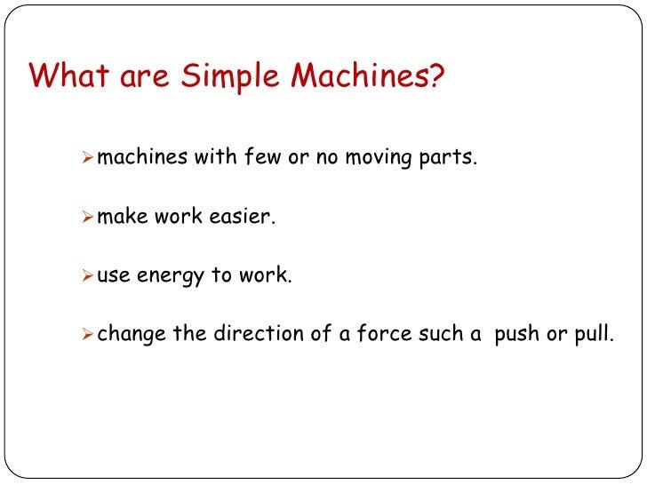 Simple Machines Worksheet 1
