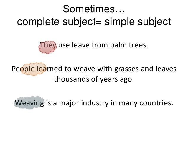 Simple Subject and Predicate - YouTube