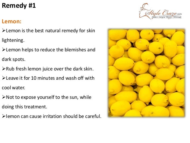 Rub Face With Lemon rub Fresh Lemon Juice Over