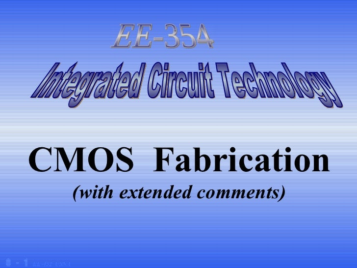 Simple of fabrication CMOS