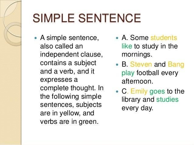 types of sentences simple compound complex compound complex