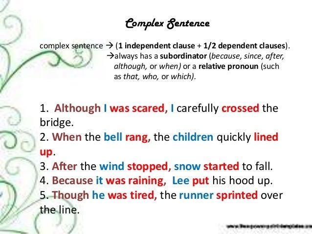 Simple, compound u0026 complex sentences