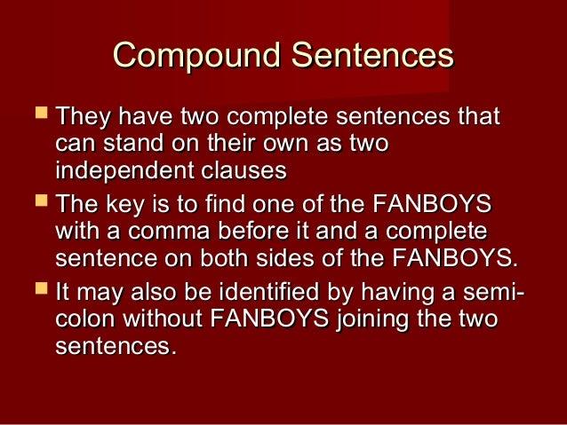 Quiz On Types Of Sentences Simple Compound Complex Compound ...