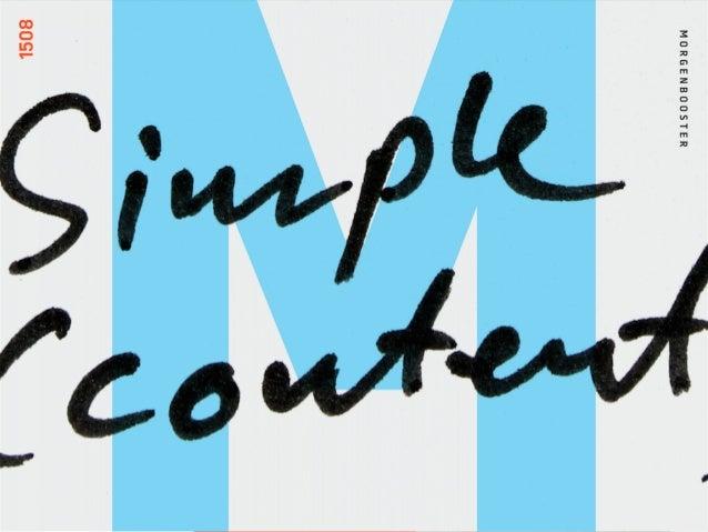 MORGENBOOSTER: SIMPLE (CONTENT) WEBBY KATEGORI