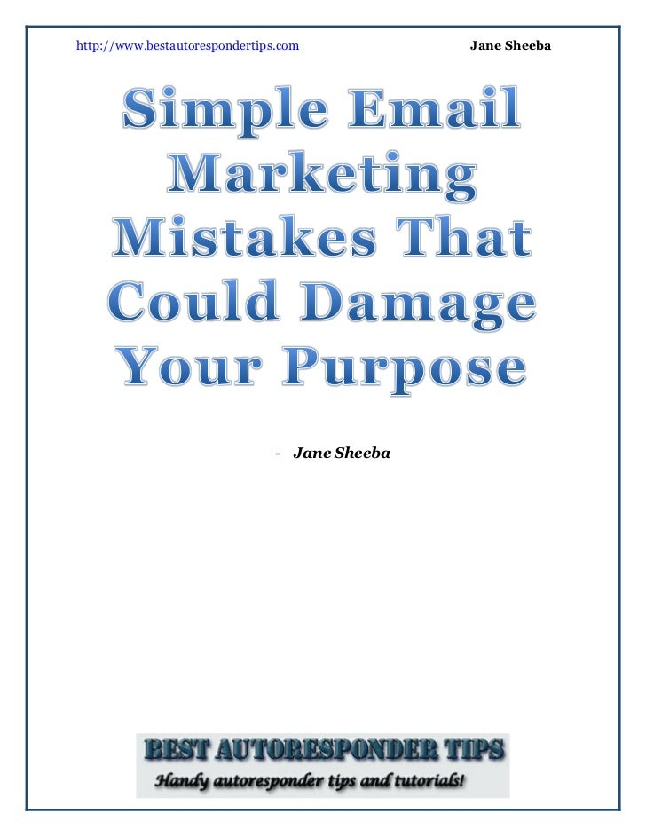 Simple email marketing mistakes that could damage your purpose