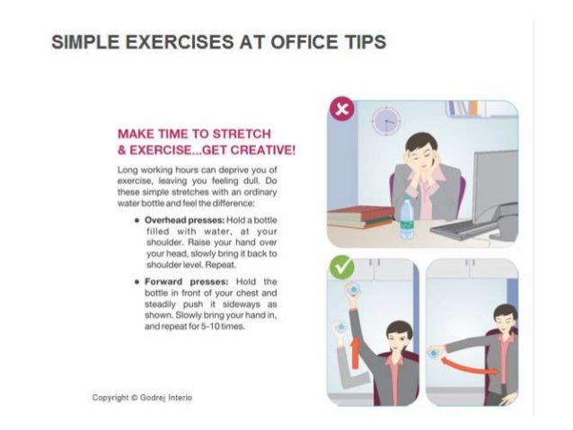 Simple exercises at office tips - Office opslag tip ...