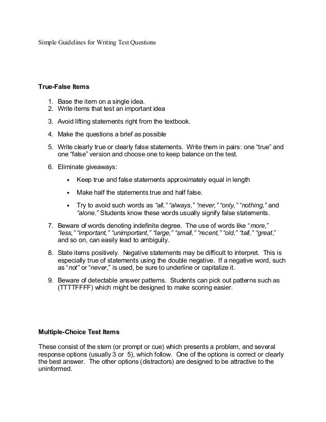 simple guidelines for writing test Want a step-by-step guide on writing a high-scoring act writing essay  to  explain in eight steps (as we do below), it's not necessarily simple to do   modified from our act essay tips article to fit the new act writing test.
