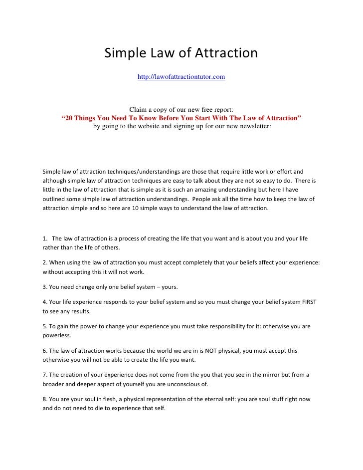 Simple Law of Attraction                                      http://lawofattractiontutor.com                             ...