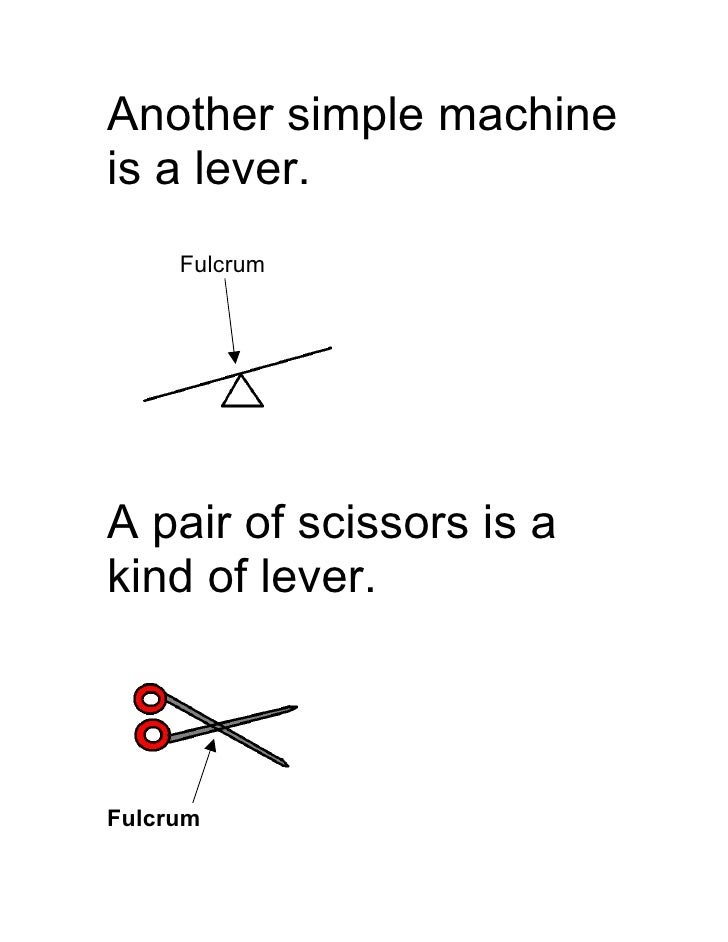 what type of simple machine are scissors
