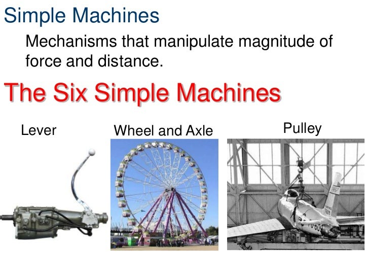 Mechanisms simple machineslever wheel and axle pulley