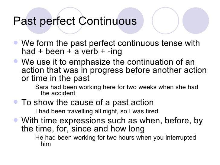 Simple past past continuous-past perfect simple-past ...