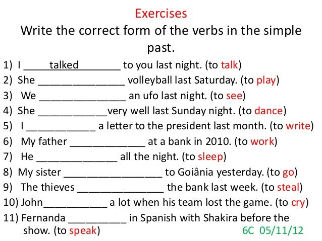 Simple Past Tense Exercises For Grade 8 English Grammar