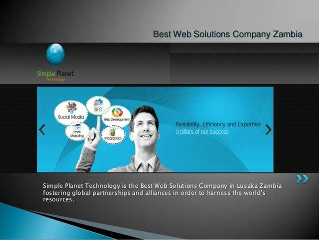 Best Web Solutions Company Zambia  Simple Planet Technology is the Best Web Solutions Company in Lusaka Zambia fostering g...