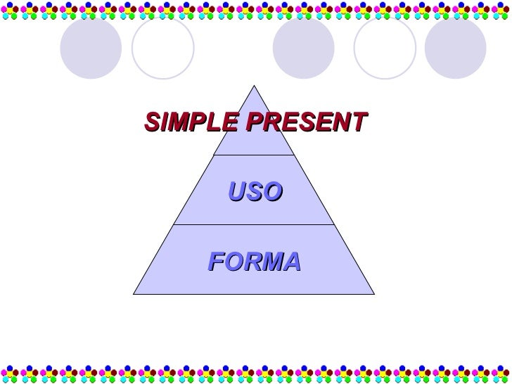 SIMPLE PRESENT USO FORMA