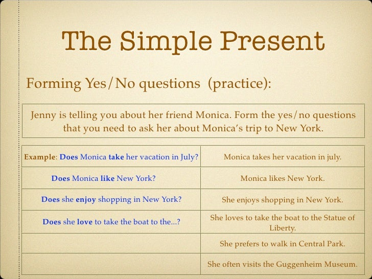 present simple yes no questions exercises pdf