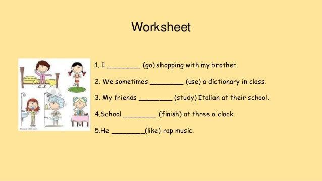 Math worksheet simple present tense worksheets for grade 1 grammar