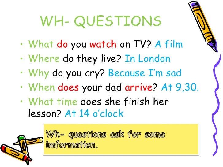 Present Simple Tense Wh Questions adelescornerorg