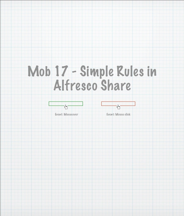 Simple Rules In Alfresco Share UI Wireframes