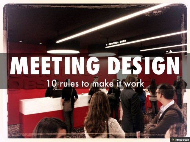 Simple Rules of Meeting Design