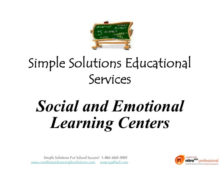 Simple Solutions Educational          Services  Social and Emotional    Learning Centers      Simple Solutions For School ...