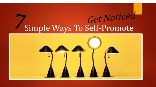 Simple ways to self promote