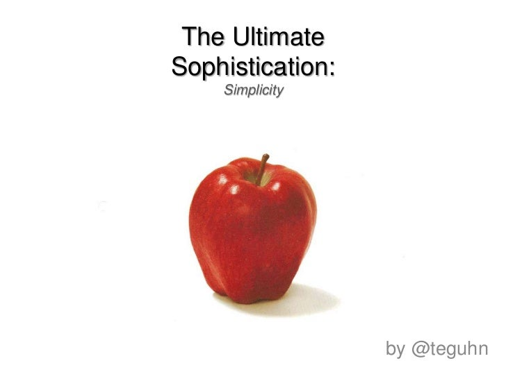 The UltimateSophistication:Simplicity<br />by @teguhn<br />