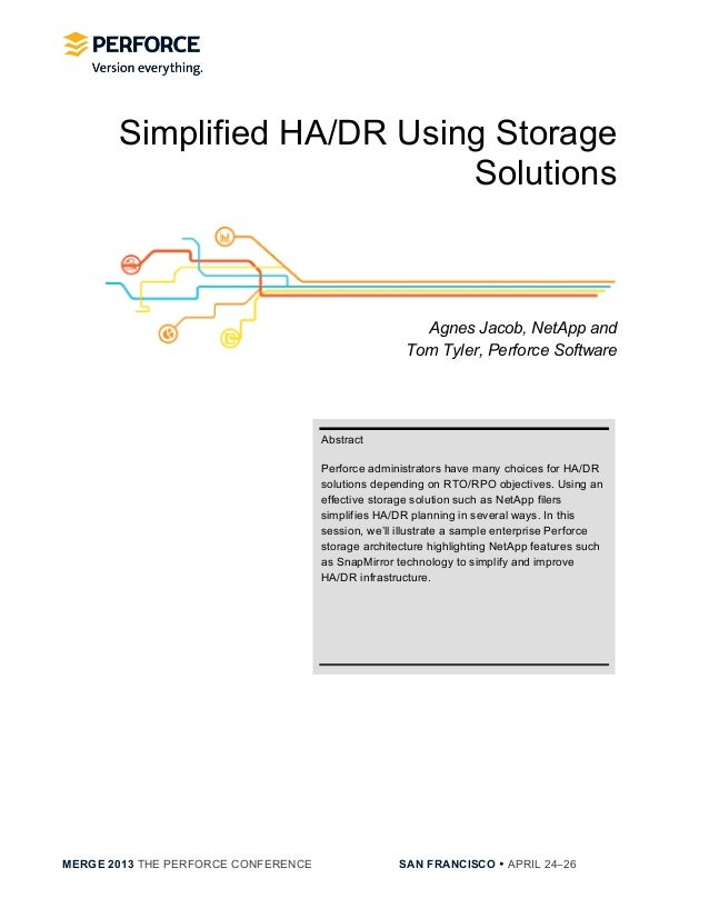 [NetApp] Simplified HA:DR Using Storage Solutions