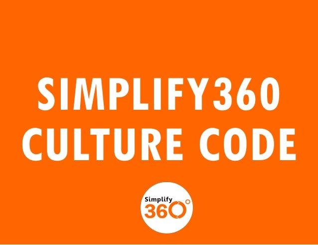 Simplify360 culture code