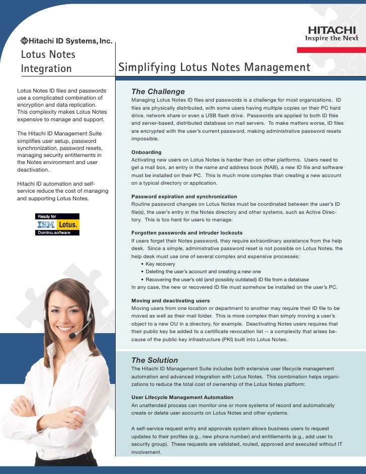 Lotus Notes Integration                          Simplifying Lotus Notes ManagementLotus Notes ID files and passwords     ...