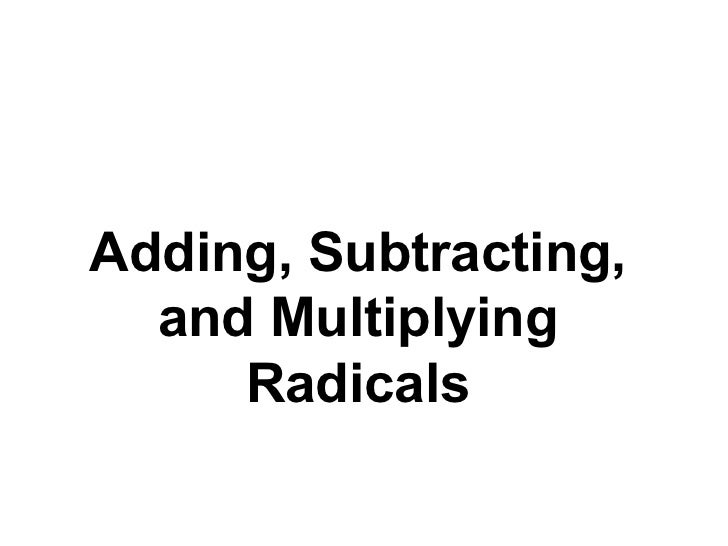 Simplifying radical expressions, rational exponents