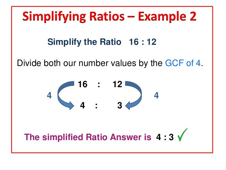 how to get ratios of 4 numbers