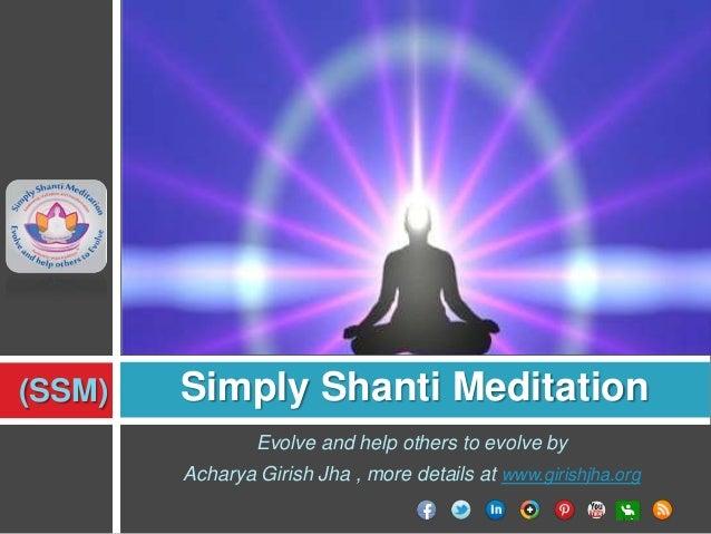 Simply Shanti Meditation (girishjha.org)