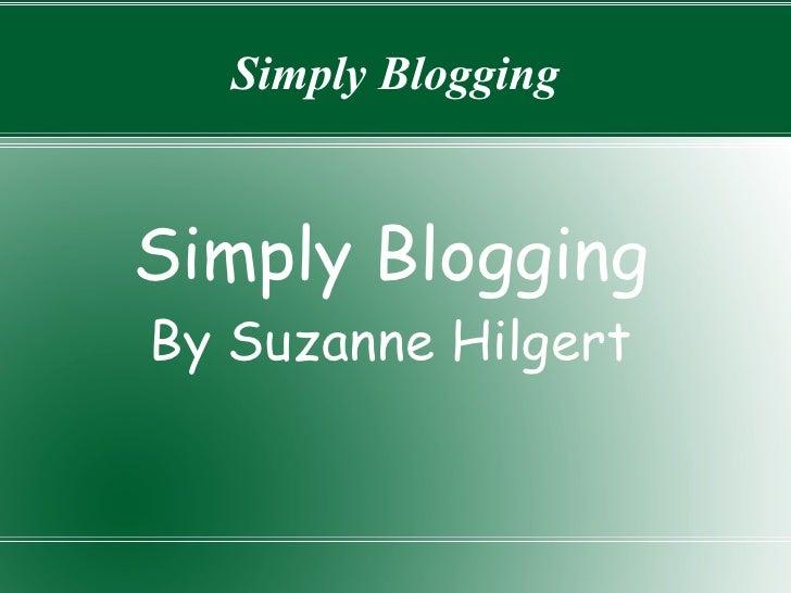 Simply Blogging