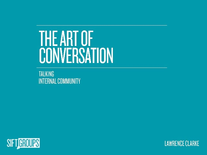 The Art of Coversation - Lawrence Clarke