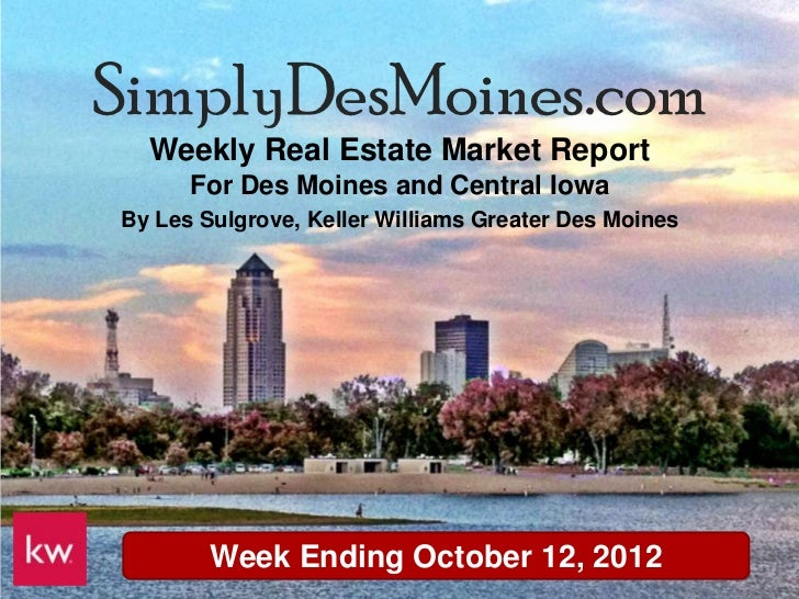 Des Moines Weekly Real Estate Update October 12th 2012
