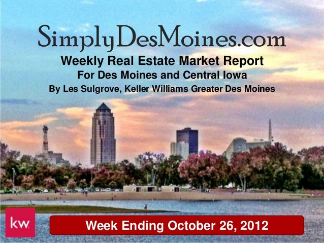 Des Moines Weekly Real Estate Update October 26th 2012