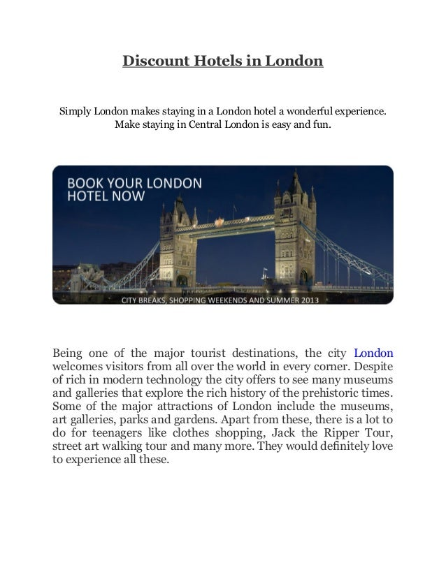 Discount Hotels in London