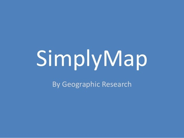 SimplyMap By Geographic Research