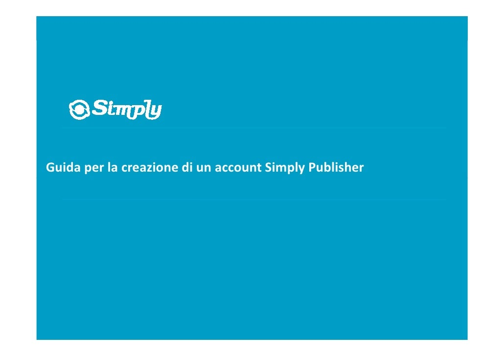 Simply.com Publisher Handbook (Italian release)